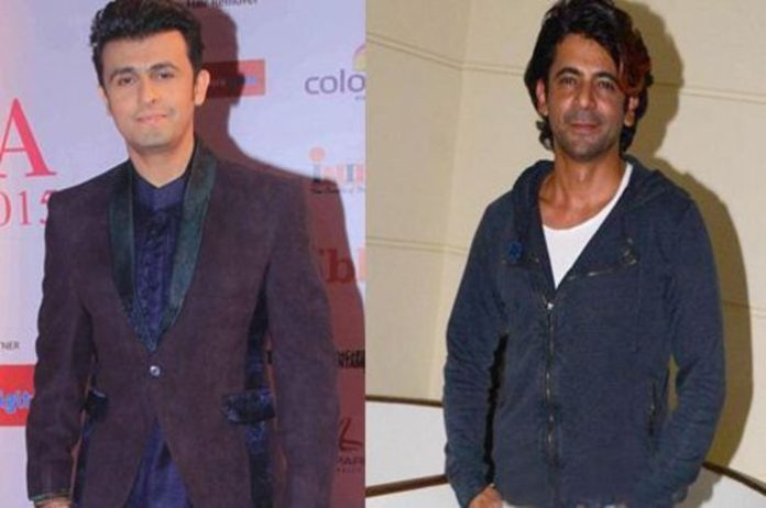 Sonu Nigam and comedian Sunil Grover