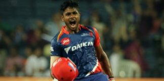 Sanju Samson hits first century of IPL 10