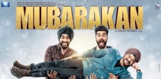 The first poster of the movie 'Mubarakan' release