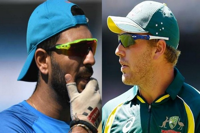 Yuvraj singh and aaron finch