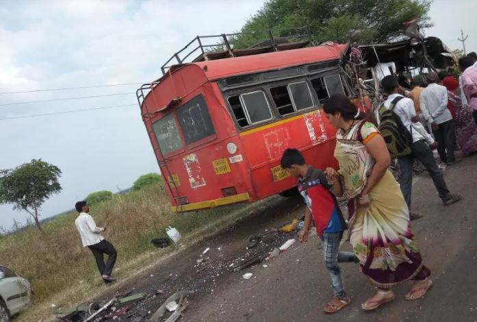 Bus Truck Accident on latur nilanga highway