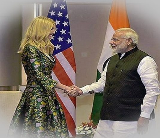 Ivanka Trump and PM Modi