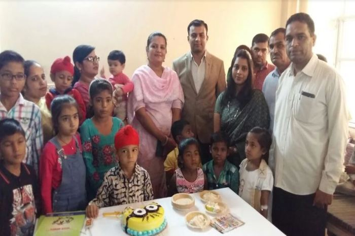 celebration of birthday with thalassemia patients