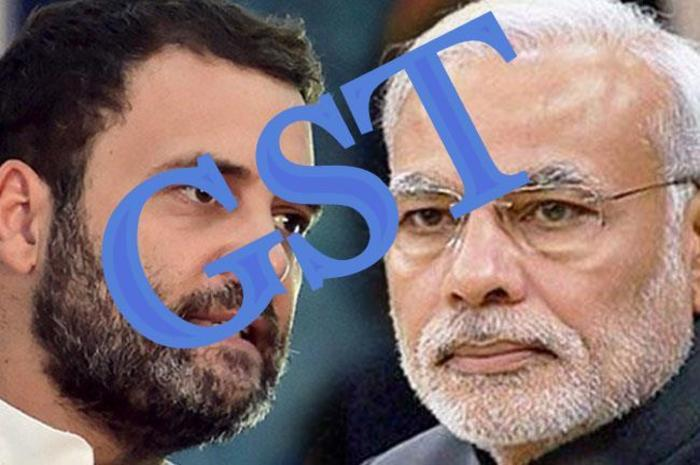 MOdi and rahul for gst.