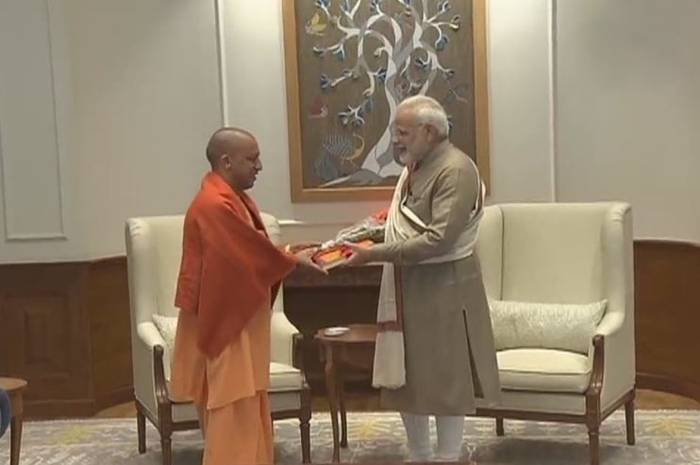 yogi meets with pm modi