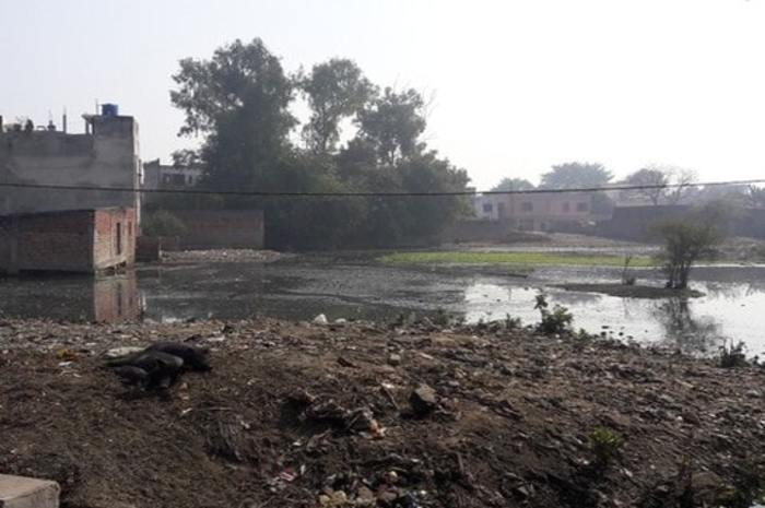 First put garbage on Talobo land in Hardoi district and then build the building