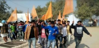 Youth rally in Sahwa against Padmavat