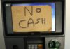 No cash in ATM