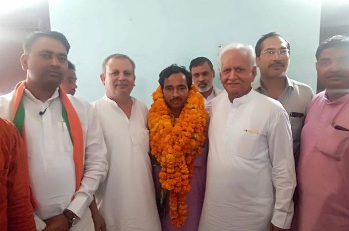 Chand Mohammad became the district president of Minority Front in Gannaur